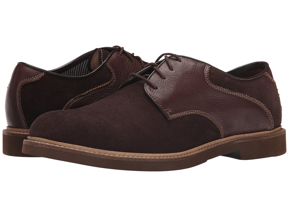 Florsheim - Bucktown Saddle Oxford (Brown Suede/Brown Milled) Men
