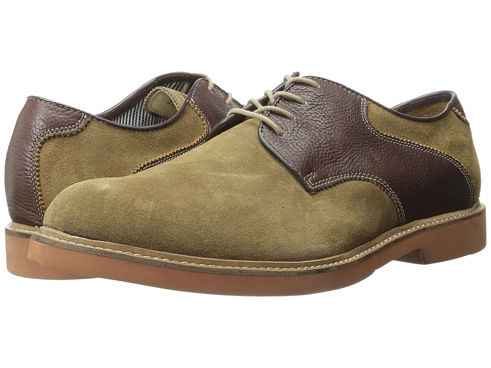 Florsheim - Bucktown Saddle Oxford (Mushroom Suede/Brown Milled) Men