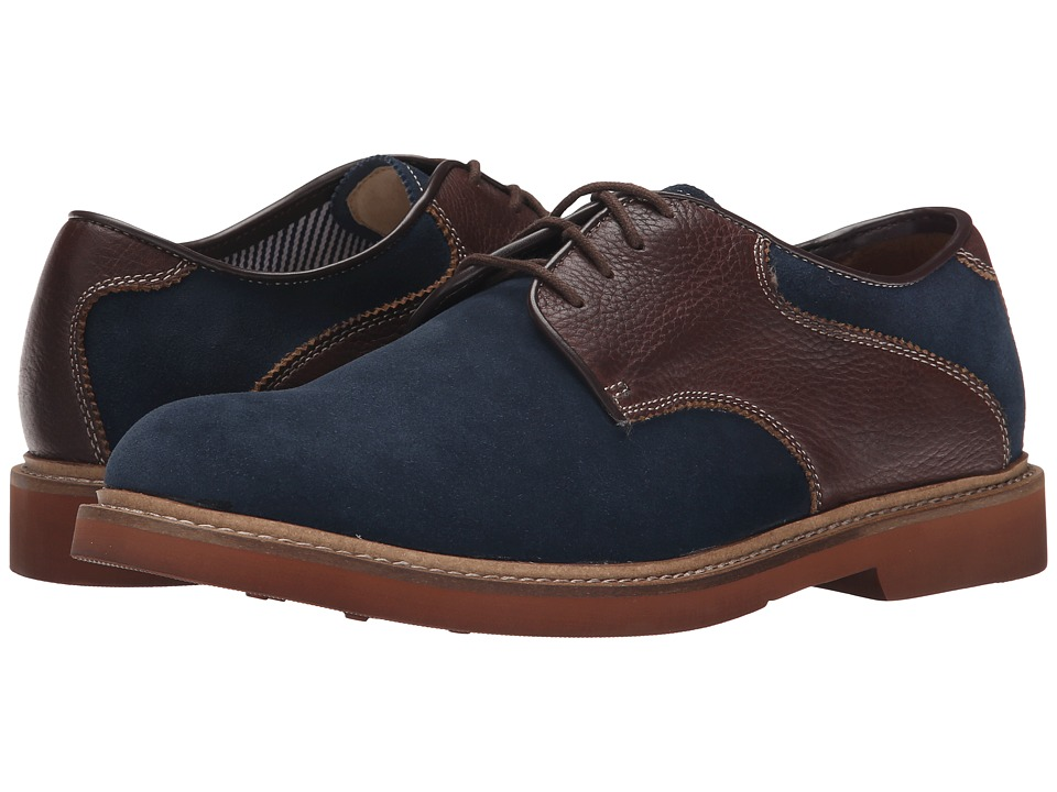 Florsheim - Bucktown Saddle Oxford (Navy Suede/Brown Milled) Men