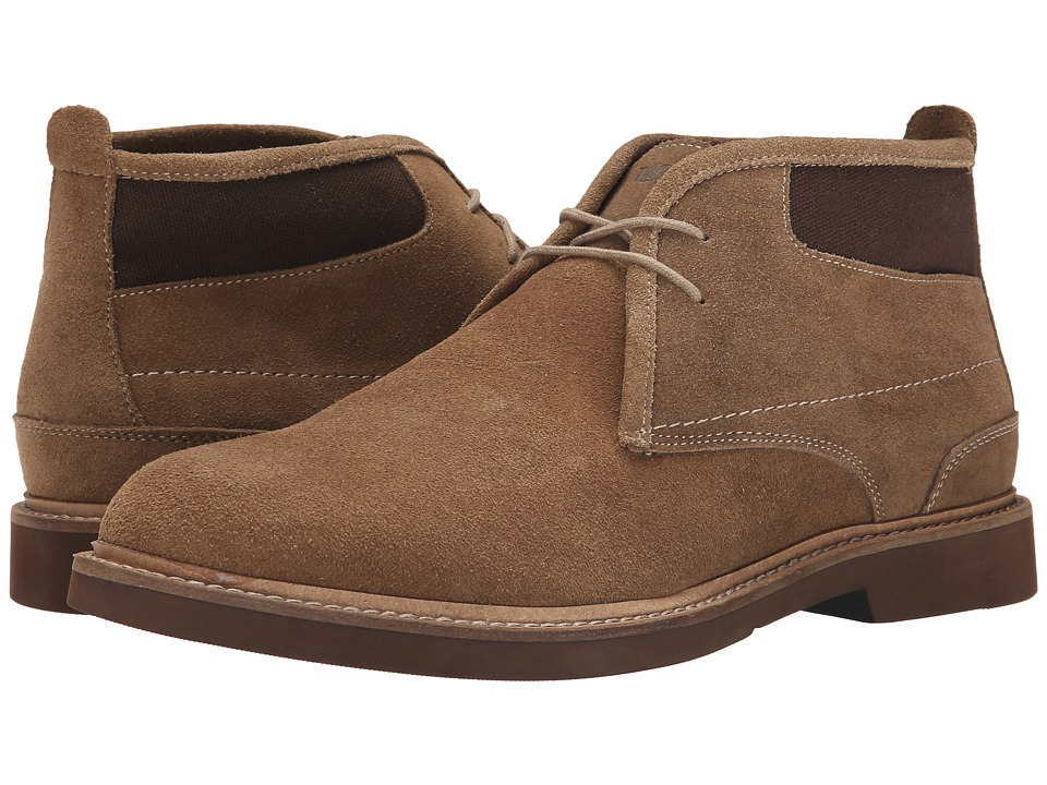 Florsheim Bucktown Chukka Boot (Mushroom Suede/Brown Canvas) Men