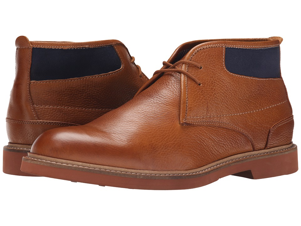Florsheim Bucktown Chukka Boot (Cognac Milled Leather/Navy Canvas) Men