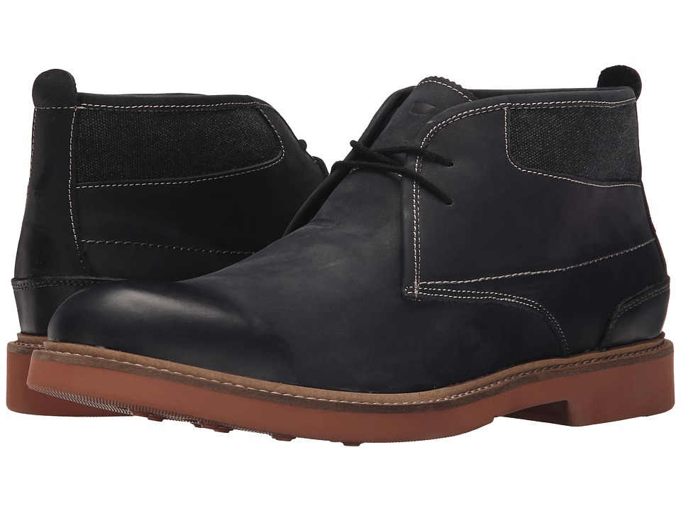 Florsheim - Bucktown Chukka Boot (Black Crazy Horse Leather/Charcoal Canvas) Men