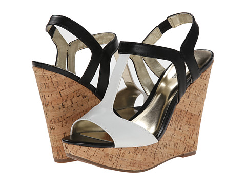 CARLOS by Carlos Santana - Bondi (Black/White) Women's Wedge Shoes