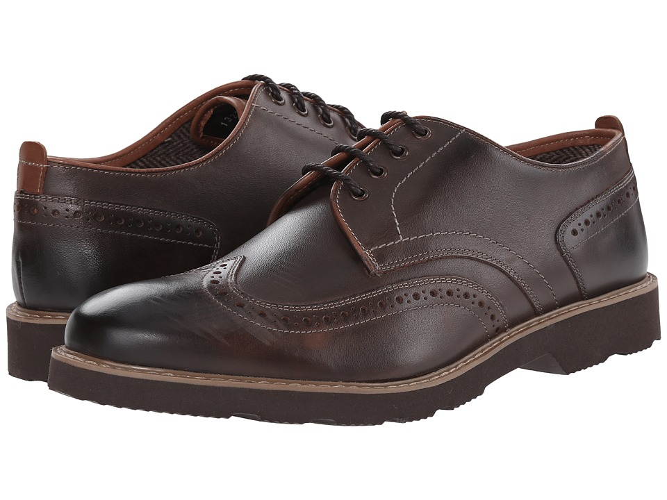 Florsheim - Casey Wingtip Oxford (Brown Smooth) Men's Lace Up Wing Tip Shoes