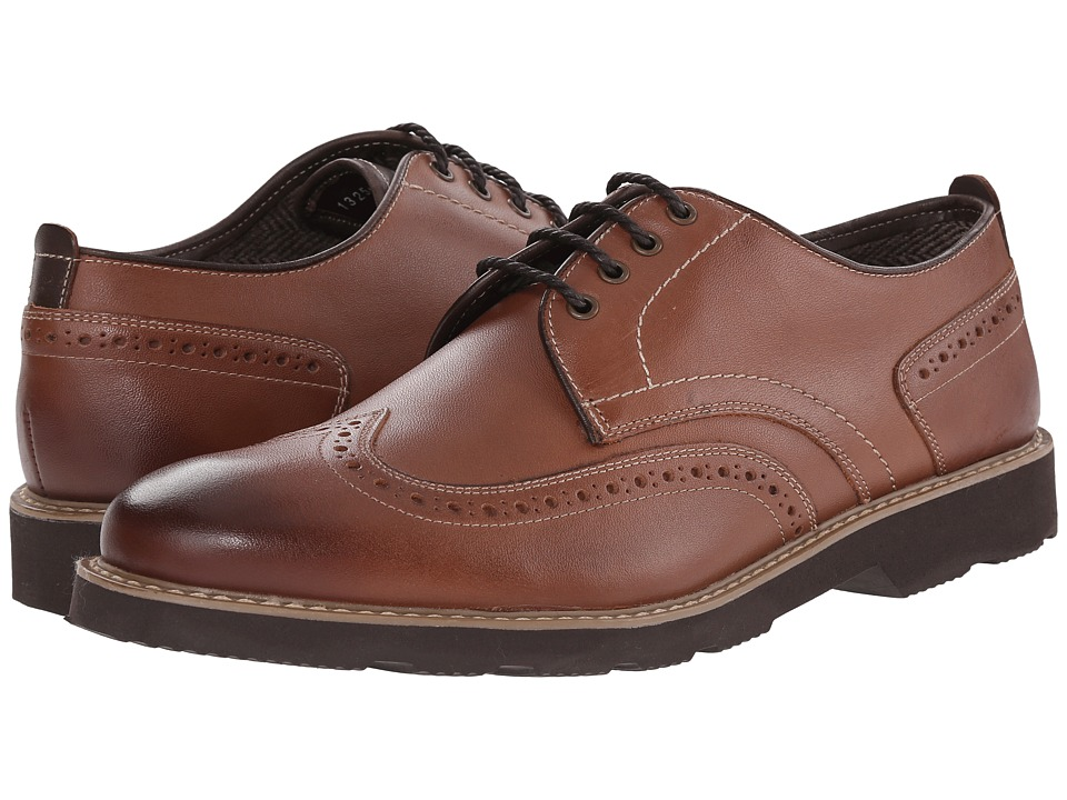 Florsheim - Casey Wingtip Oxford (Cognac Smooth) Men's Lace Up Wing Tip Shoes