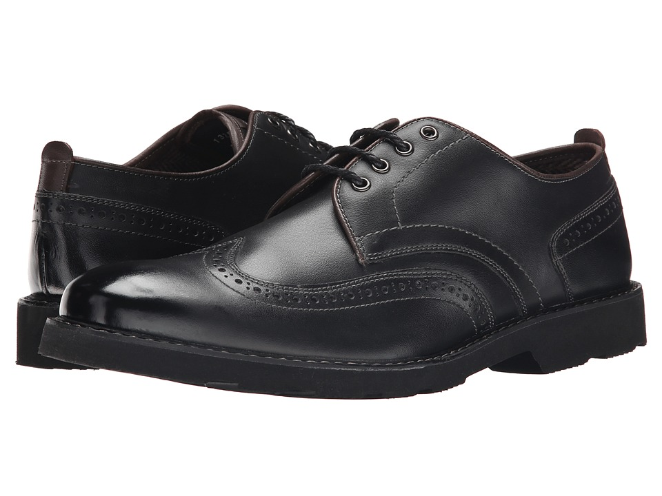 Florsheim Casey Wingtip Oxford (Black Smooth) Men