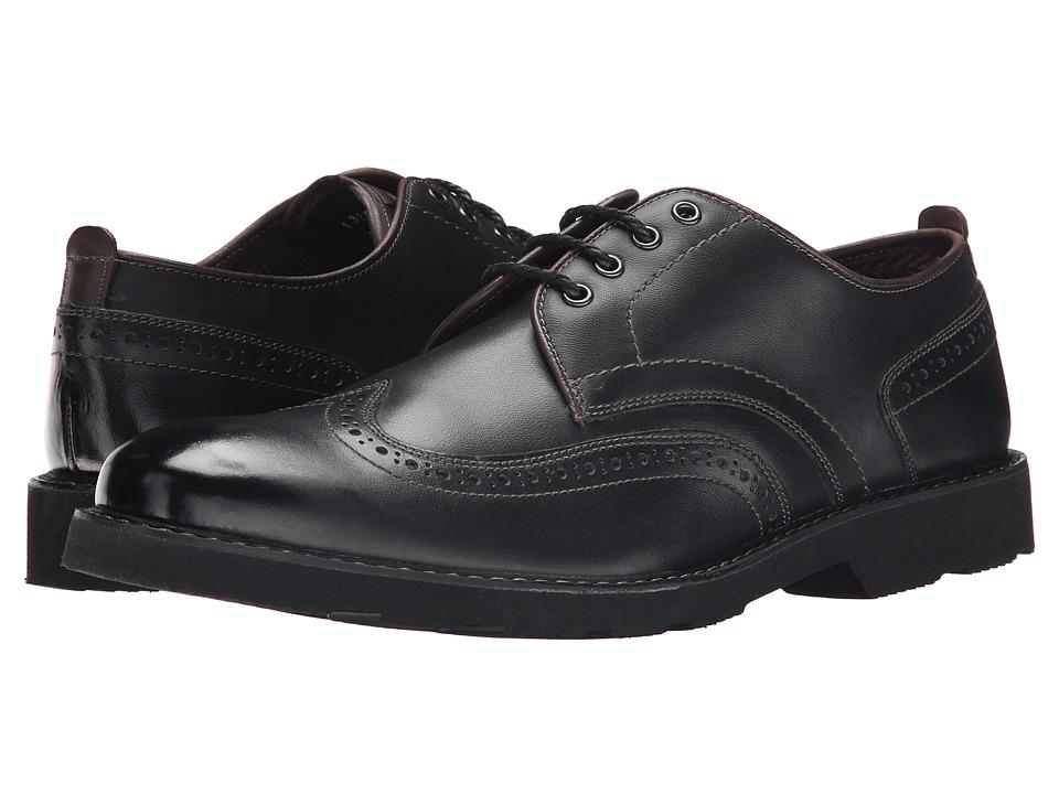 Florsheim - Casey Wingtip Oxford (Black Smooth) Men's Lace Up Wing Tip Shoes