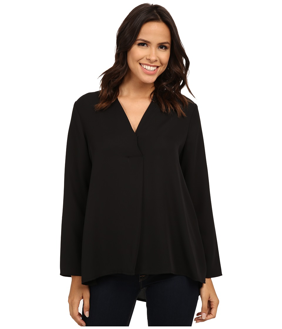 NIC+ZOE - Majestic Matte Shirt (Black Onyx) Women's Long Sleeve Pullover