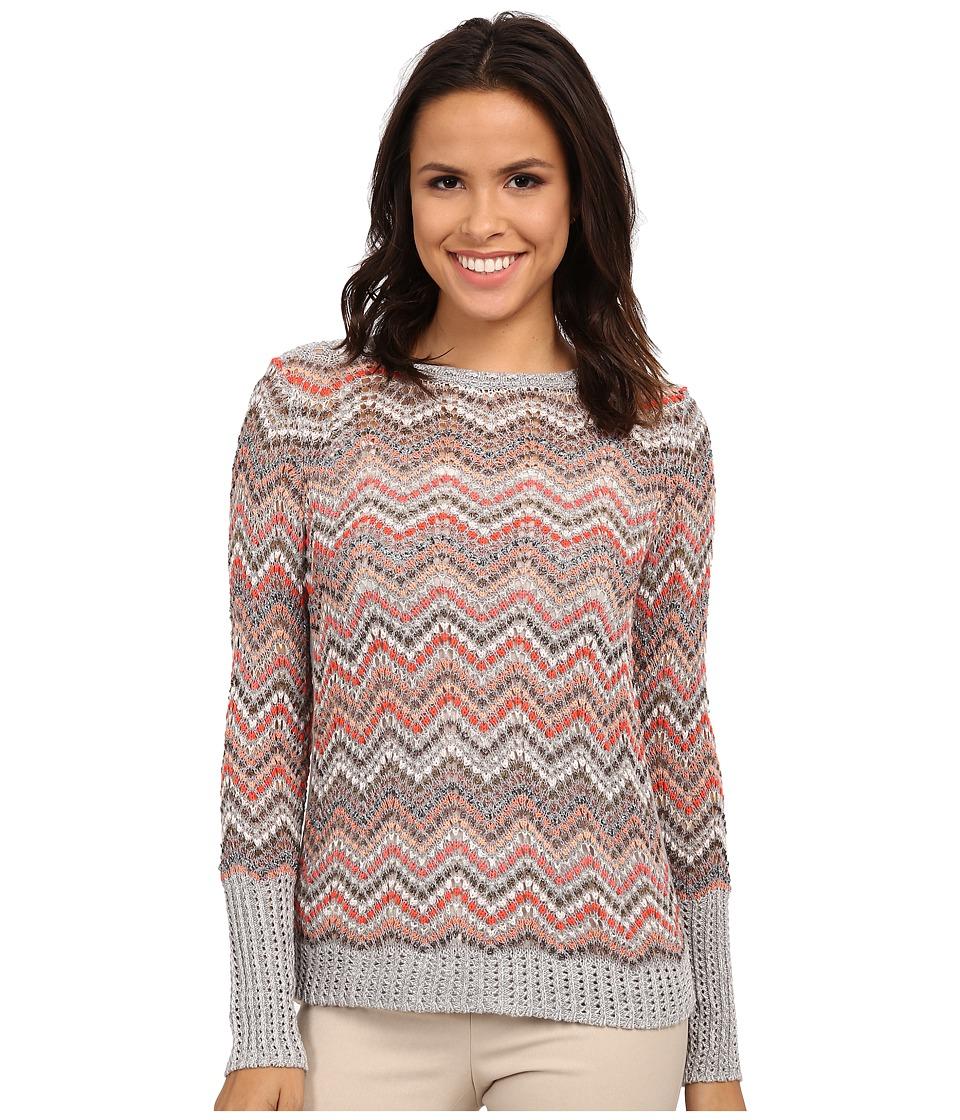 NIC+ZOE - Color Burst Top (Multi) Women's Long Sleeve Pullover