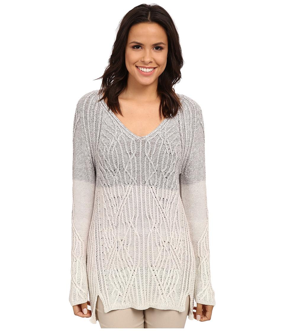 NIC+ZOE - Weaved Ombre Top (Multi) Women's Long Sleeve Pullover