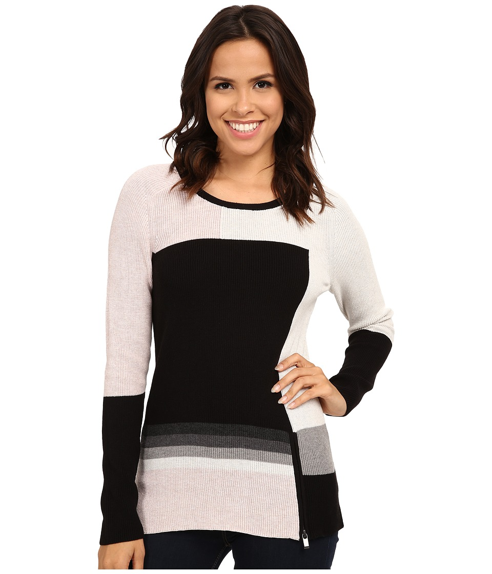 NIC+ZOE - Brushed Block Top (Multi) Women
