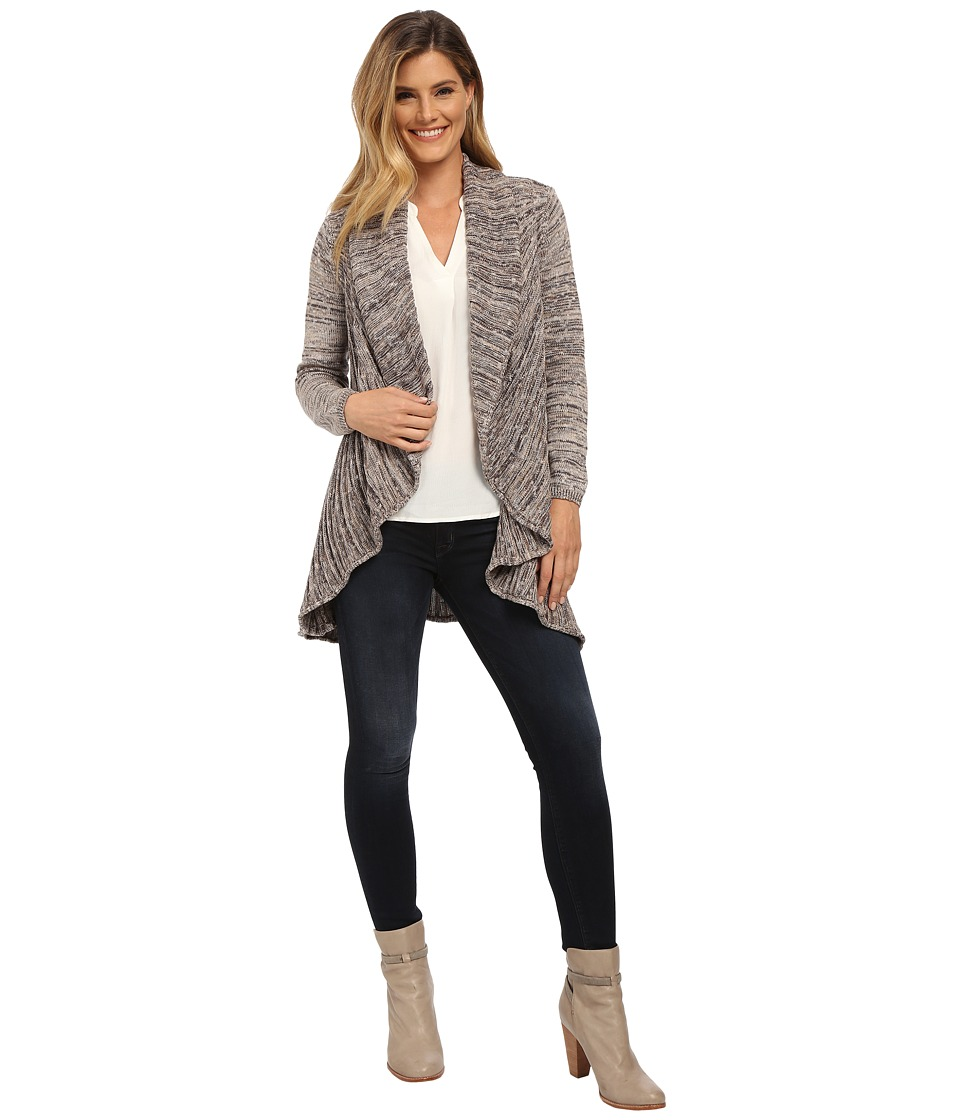 NIC+ZOE - Coral Room Cardy (Silver Cloud) Women's Sweater