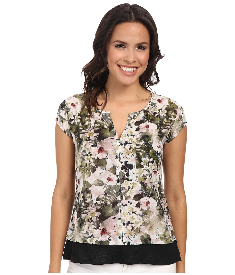 Sanctuary - City Mix Tee (Flora Fauna) Women's Short Sleeve Pullover