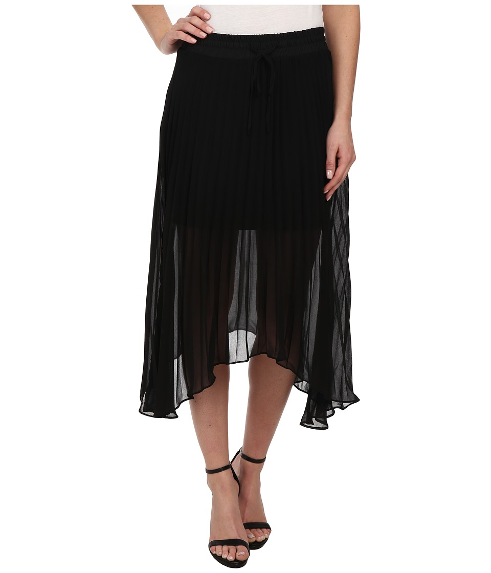 Sanctuary - Allure Pleated Midi Skirt (Black) Women's Skirt