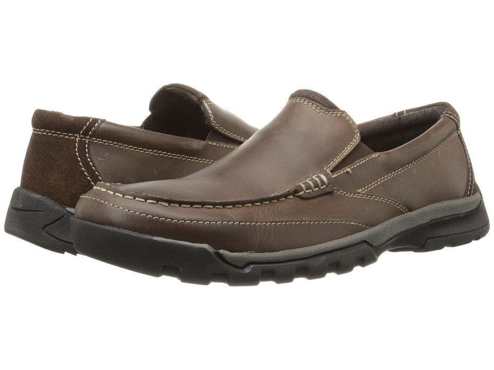 Florsheim - Roster Moc Slip-On (Brown Crazy Horse) Men