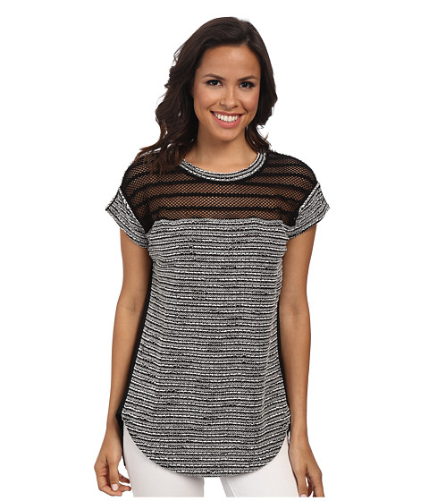 Sanctuary - Chloe Mix Tee (Black/White) Women