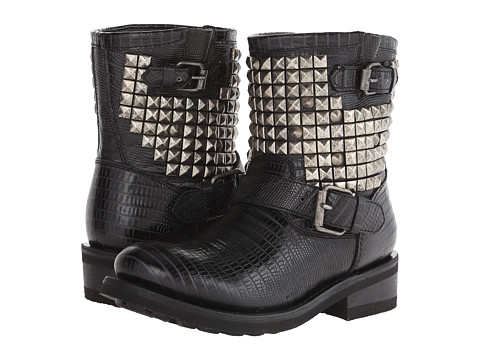 ASH - Titan (Black/Antic Silver Tejus Donez) Women's Dress Pull-on Boots