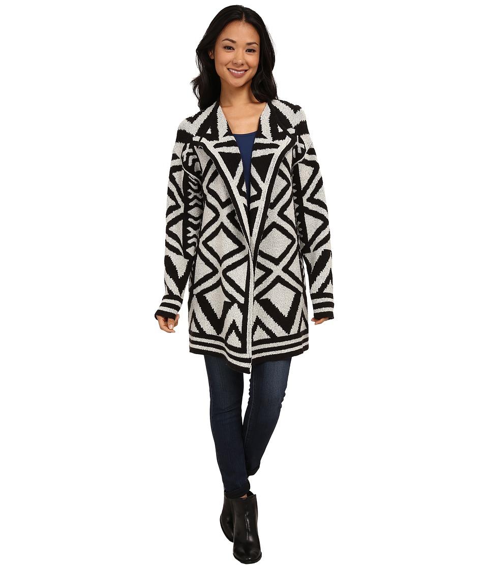 NIC+ZOE - Mirrored Angles Jacket (Black Mix) Women's Coat