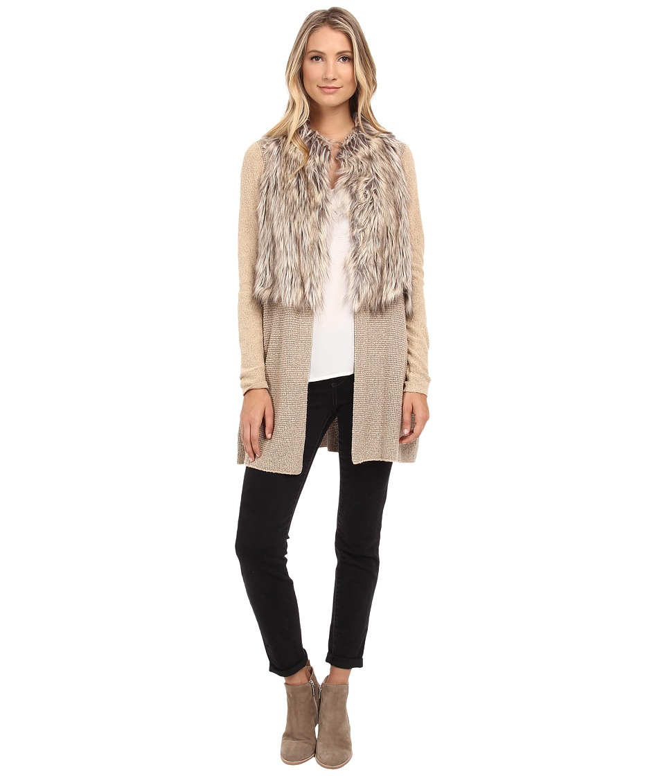 NIC+ZOE - Festive Faux Fur Jacket (Multi) Women's Coat