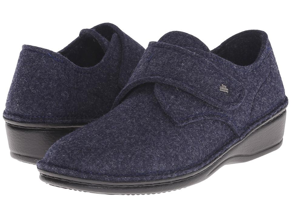 Finn Comfort - Adelboden (Dark Blue Wollfilz) Women's Shoes