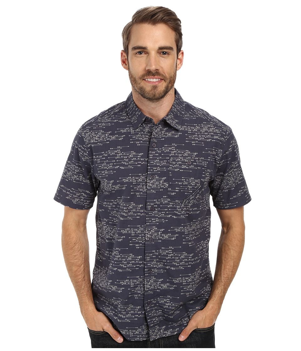 Toad&Co - Fletch Print Short Sleeve Shirt (Blue Steel Print) Men's Short Sleeve Button Up