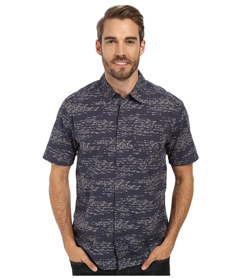 Toad&Co - Fletch Print Short Sleeve Shirt (Blue Steel Print) Men