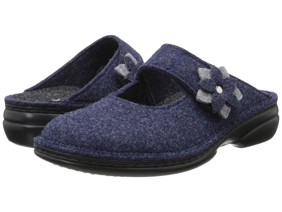 Finn Comfort - Arlberg (Dark Blue Wollfilz/Light Grey) Women's Clog Shoes