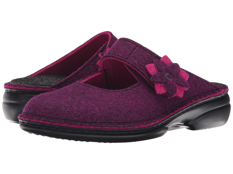 Finn Comfort - Arlberg (Berry Double Filz) Women's Clog Shoes
