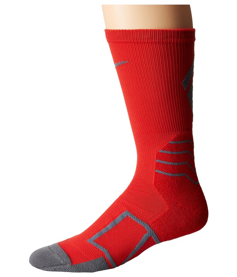 Nike Elite Baseball Crew Sock (University Red/Flint Grey/Flint Grey) Crew Cut Socks Shoes