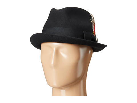 Brixton - Gain Fedora (Black) Traditional Hats