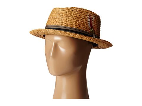 Brixton - Delta Fedora (Copper/Black) Fedora Hats