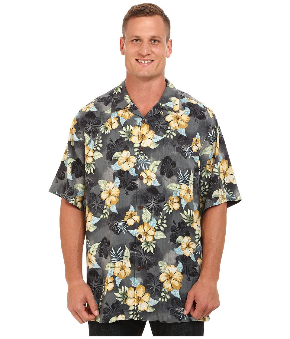 Tommy Bahama Big & Tall - Big Tall Beach Front Hibiscus (Coal) Men's Clothing