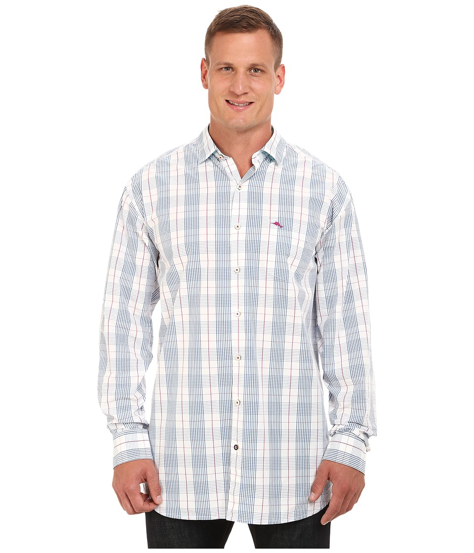 Tommy Bahama Big & Tall - Big Tall Paradise Island Glen Plaid (Bravo Blue) Men's Clothing