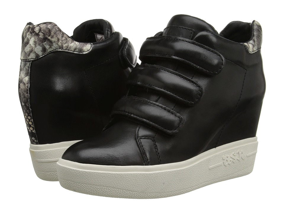 ASH - Avedon (Black/Stone Nappa Calf/Diamante) Women's Wedge Shoes