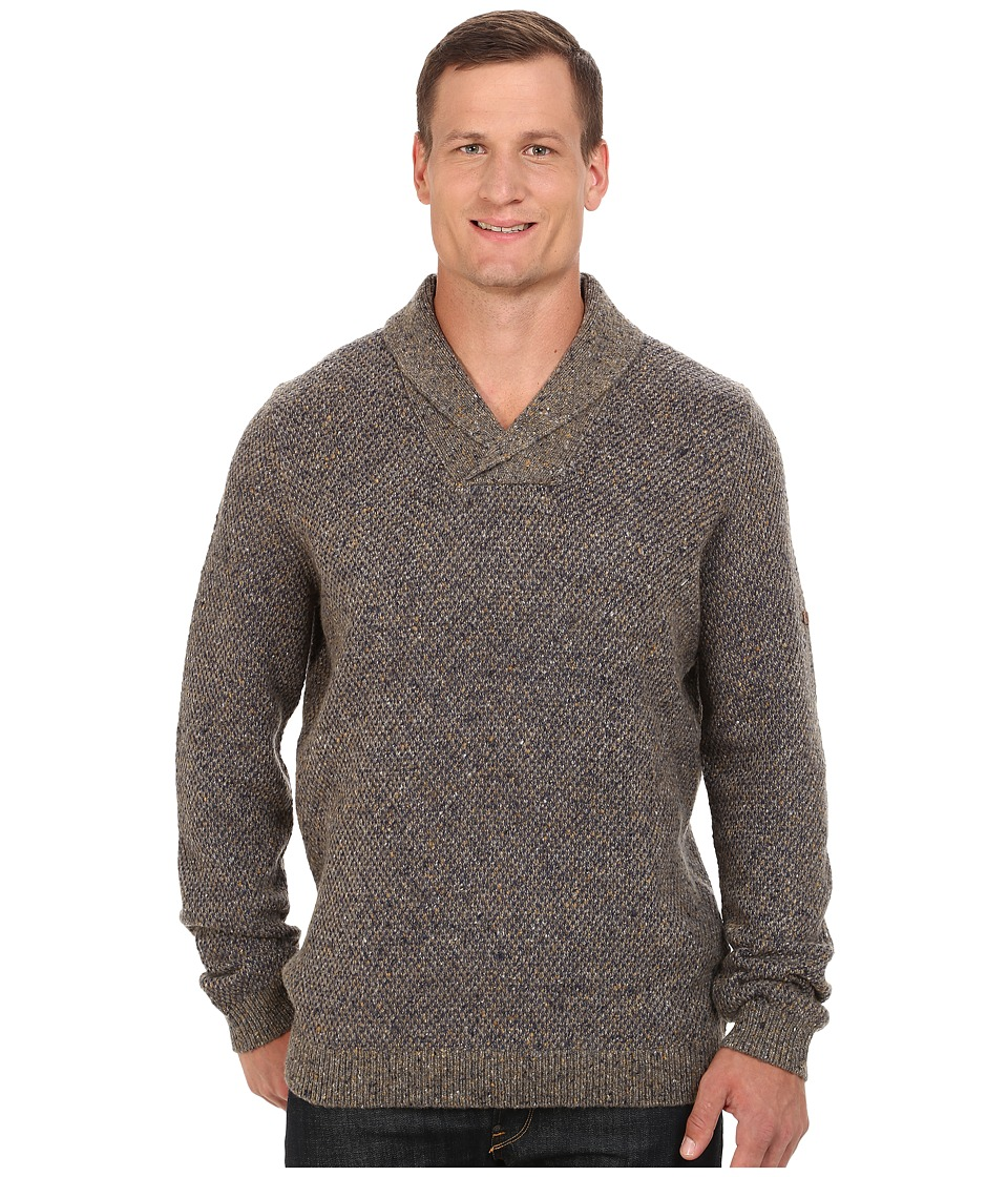 Tommy Bahama Big & Tall - Big Tall West Highland Shawl (Bison) Men's Sweater