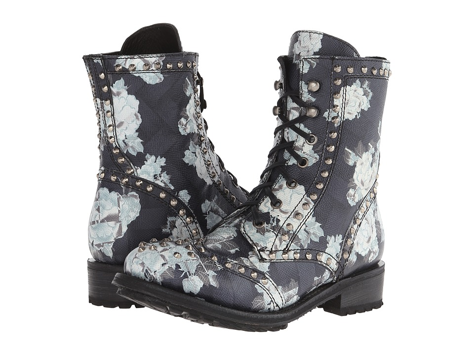 ASH - Rare (Black/White Alpina Flower) Women's Dress Lace-up Boots