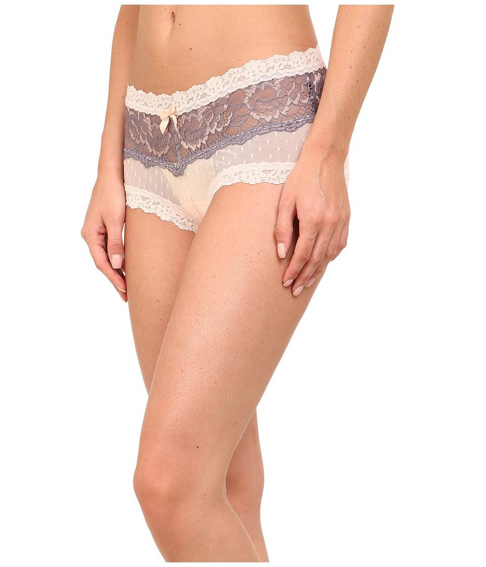 Hanky Panky - Emma Mesh Boyshorts (Peachy Pink) Women's Underwear