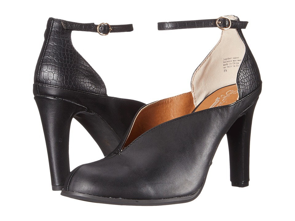 Seychelles Flute (Black Leather) High Heels