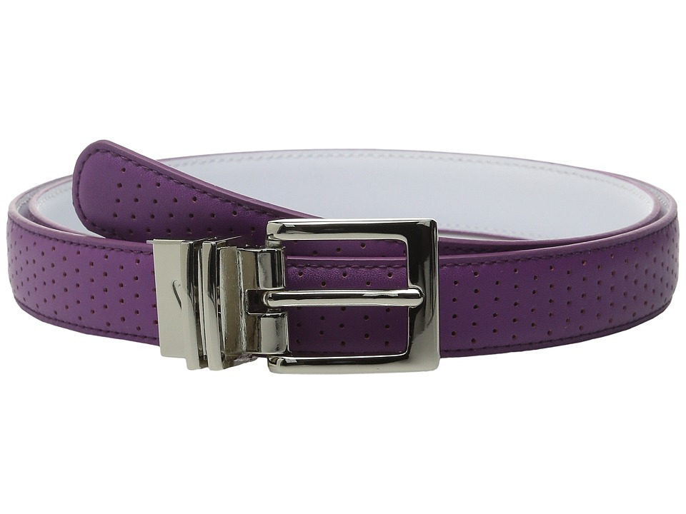 Nike - Perforated to Smooth Reversible (Bold Berry/White) Women's Belts
