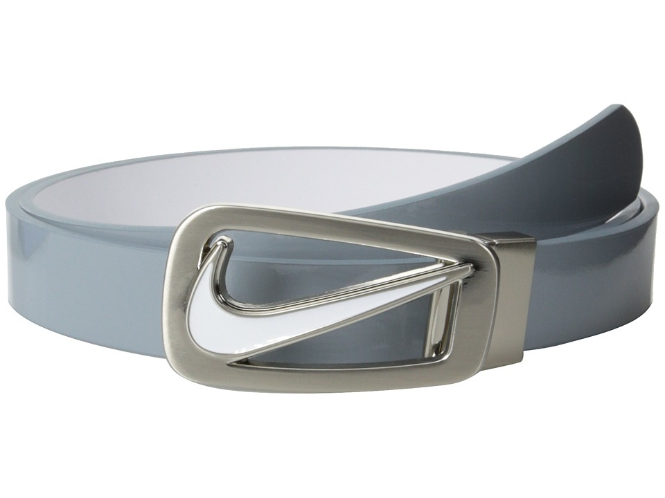 Nike - Nike Swoosh Cutout Skinny Reversible (Dove Grey/White) Women's Belts