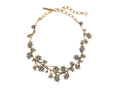 Oscar de la Renta - Crystal Branch Necklace (Black Diamond) Necklace