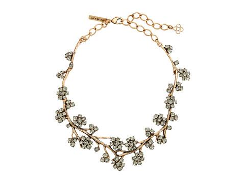 Oscar de la Renta - Crystal Branch Necklace (Black Diamond) Necklace
