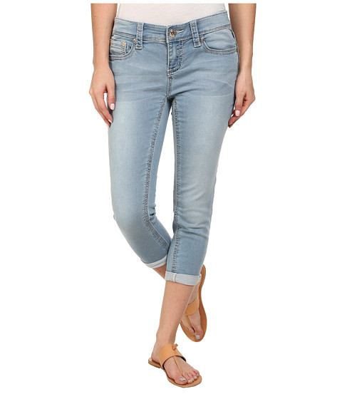 Seven7 Jeans - Skinny Knit Denim Crop in Cirque Blue (Cirque Blue) Women's Jeans