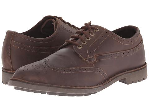 Sebago - Metcalf Wing Tip (Dark Brown) Men's Lace Up Wing Tip Shoes