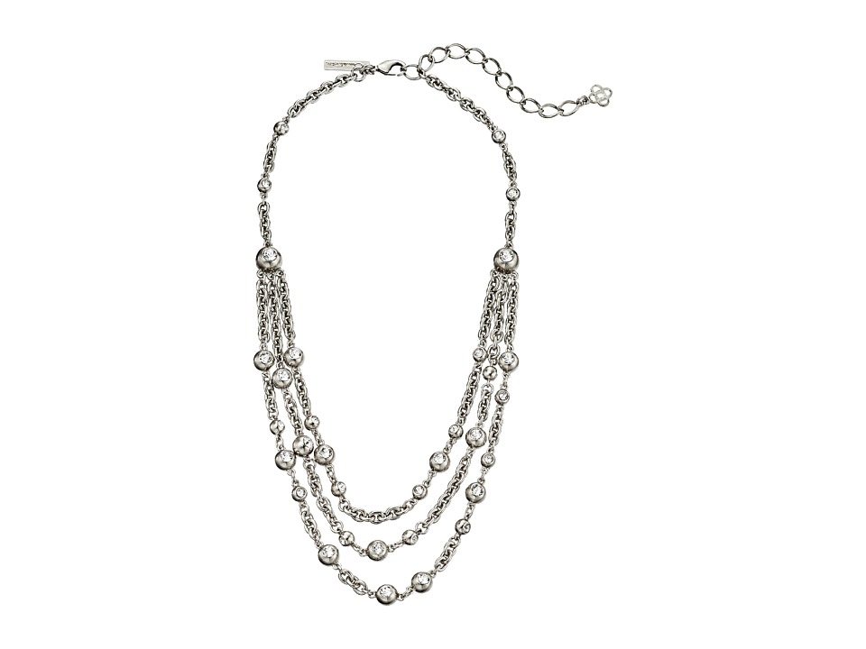 Oscar de la Renta - Ball and Crystal Necklace (Crystal/Silver) Necklace