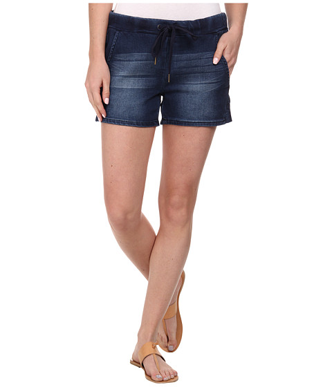 Seven7 Jeans - Knit Denim Track Shorts in Bolt Blue (Bolt Blue) Women's Shorts