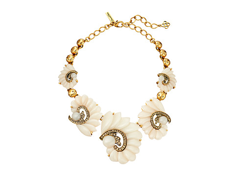 Oscar de la Renta - Resin Swirl Necklace (Ivory) Necklace