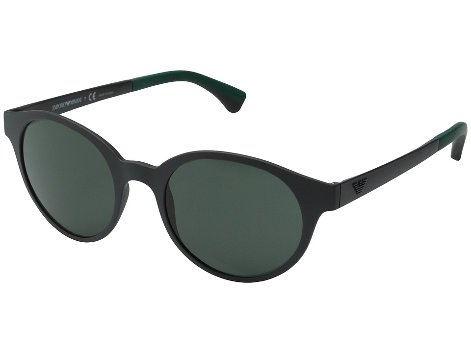 Emporio Armani - EA4045 (Grey/Grey/Green) Fashion Sunglasses