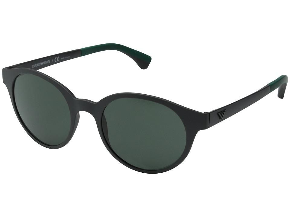 Emporio Armani - EA4045 (Grey/Grey/Green) Fashion Sunglasses
