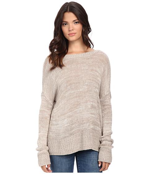 Jack by BB Dakota - Alfie Button Back Sweater (Heathered Taupe) Women